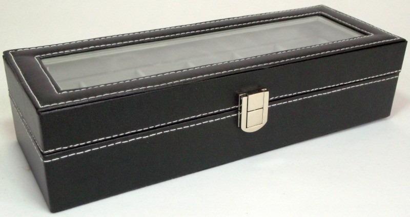 1bd8c2d06b6 Estojo Porta 6 Relógios Caixa Relogio Organizador - Promoção - R  79 ...