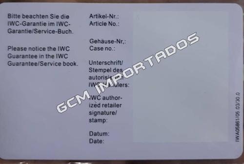 caixa relógio iwc box estojo completo - até 12x s/juros
