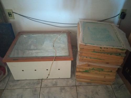 caixa reveladora serigrafia 60x50cm+14 telas