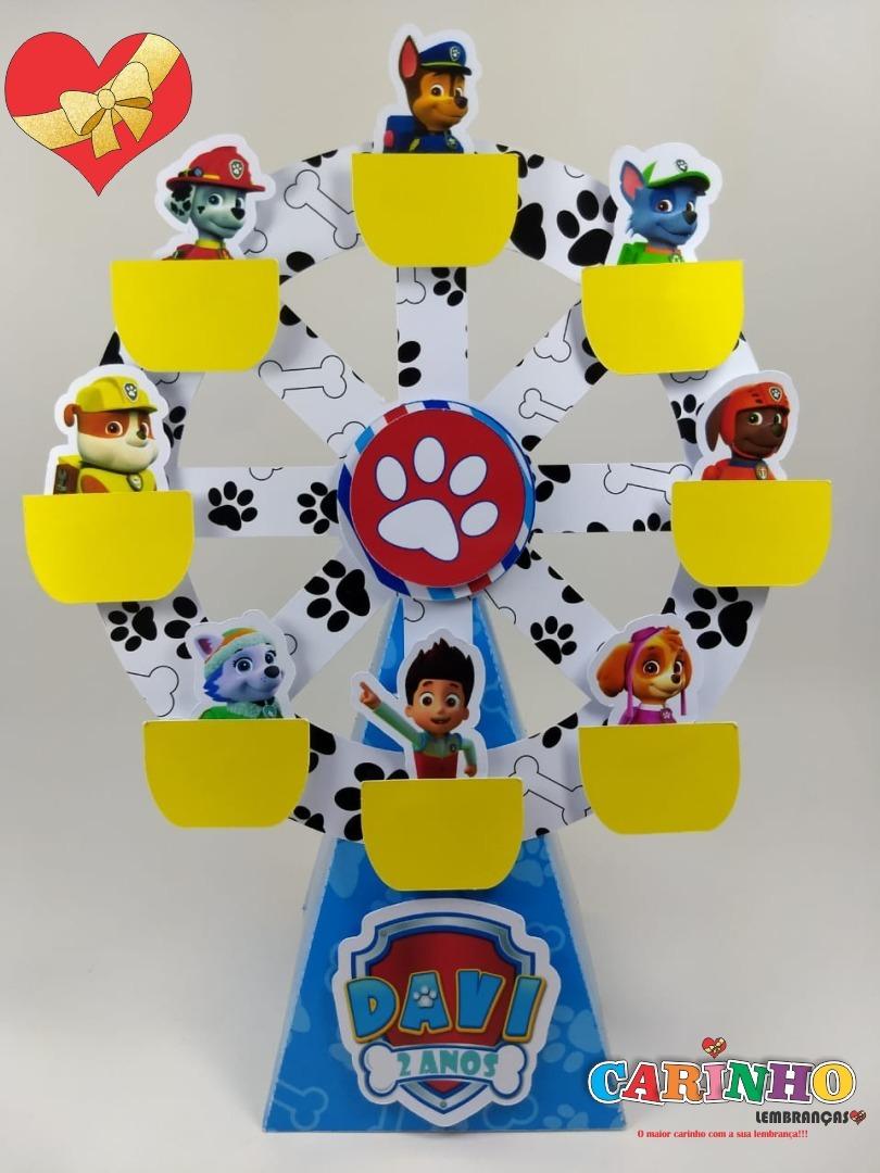 Caixa Roda Gigante Patrulha Canina 15 Unidades R 56 25 Em