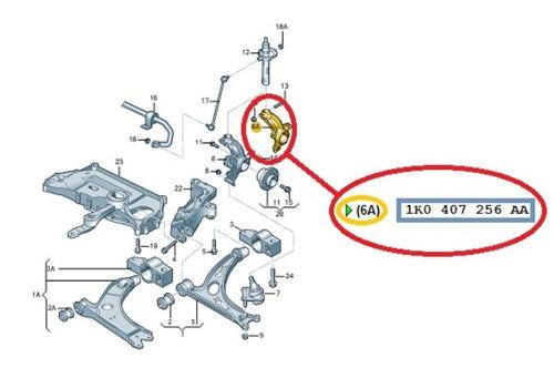 caixa rolamento roda jetta eos tiguan q3 lado direito