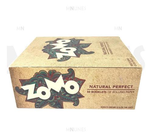 caixa seda zomo browm marrom grande smoking king size c/ 50