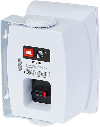 caixa som ambiente jbl c321b par profissional  60w branca