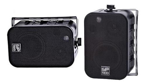 caixa som ambiente l l áudio - sp400 preta nca