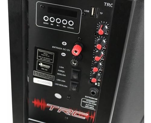 caixa som amplificada bluetooth 350w portátil led sub 12 trc