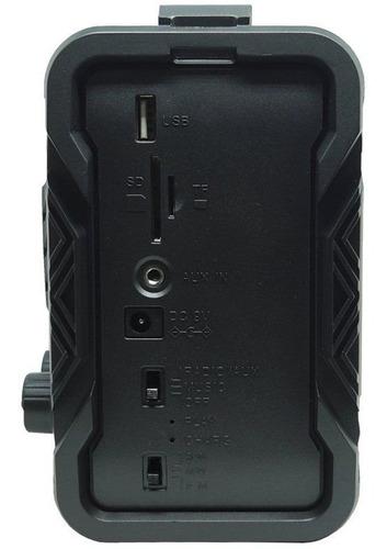 caixa som amplificada bluetooth 45w usb fm bateria relógio