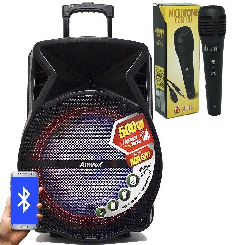 Caixa Som Amplificada Bluetooth 500w Port U00e1til   1