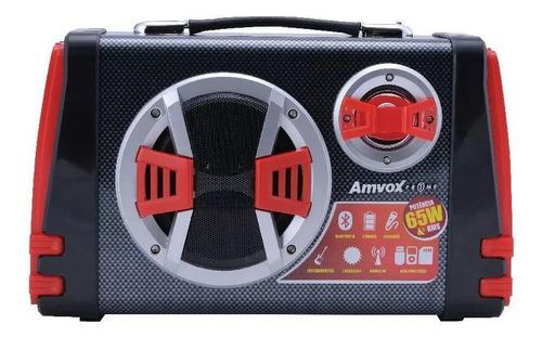 caixa som amplificada bluetooth 65w mp3 usb bateria aca110