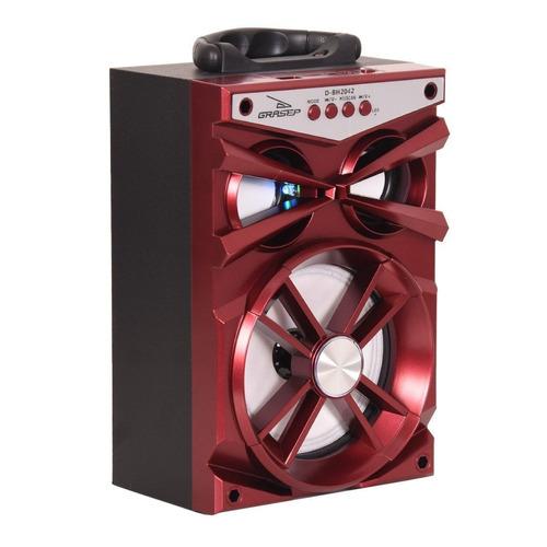caixa som amplificada bluetooth mp3/4 rádio fm pendrive novo