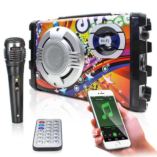 caixa som amplificada bluetooth rádio fm usb toca música mp3