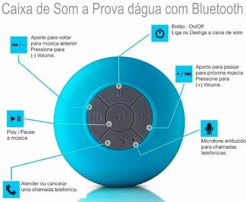 caixa som banheiro prova dágua bluetooth samsung iphone asus