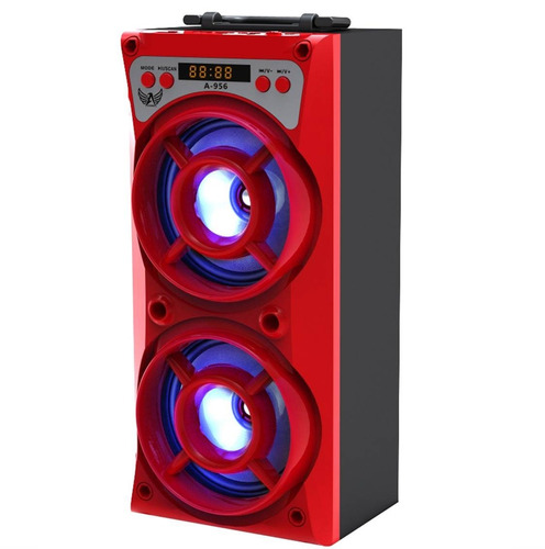 caixa som bazooca bluetooth selada usb amplificada mp3 fm sd