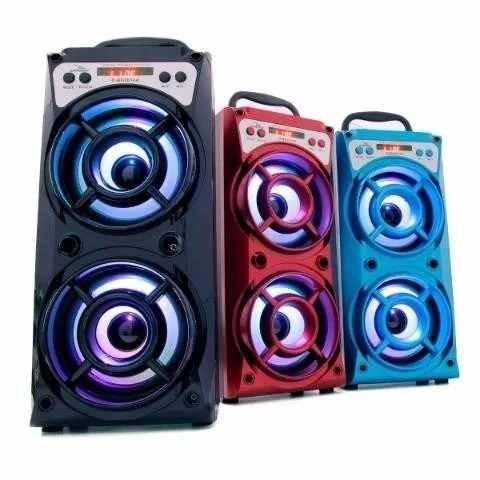 caixa som bazooca bluetooth  usb amplificada mp3 fm sd