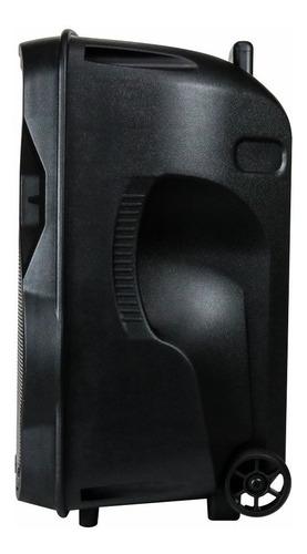 caixa som bluetooth amplificada alça bivolt rádio microfone
