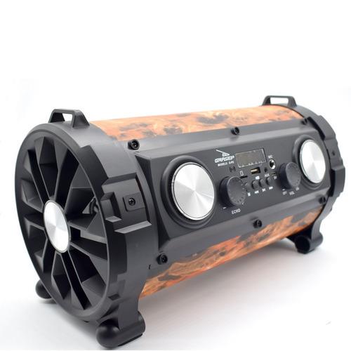 caixa som bluetooth canhão portátil bass mp3 usb fm led d-p2