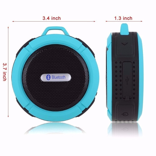 caixa som bluetooth e cartão mini sd c6 speaker portatil