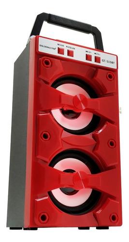 caixa som bluetooth portátil amplificada torre fm sd mp3 usb