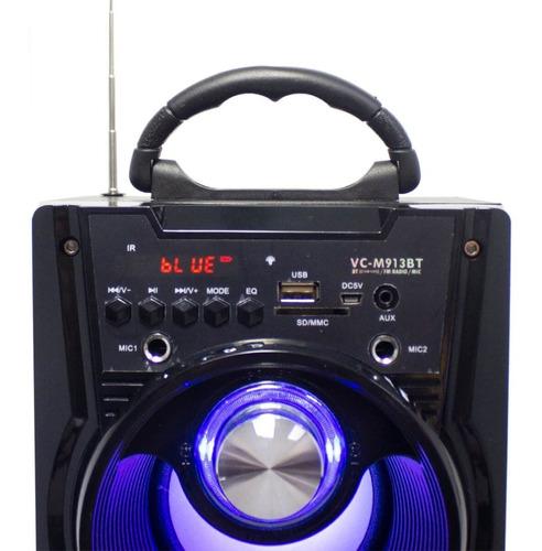 caixa som bluetooth potente portatil fm sd usb aux melhor a1