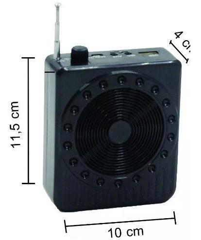 caixa som bt megafone microfone completo professor palestra