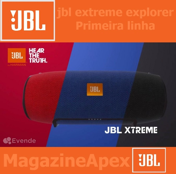 e41ee6ec82f Caixa Som Jbl Extreme Explorer Grande Bluetooth Fonte Pino - R  399 ...