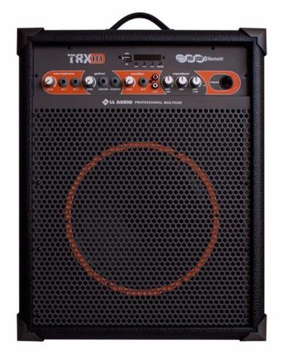 caixa som multiuso amplificada trx10 bluetooth/usb/fm 60w 10