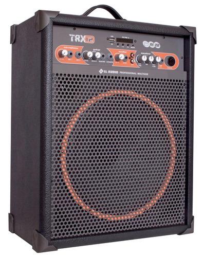 caixa som multiuso amplificada trx12 bluetooth/usb/fm 80w 12