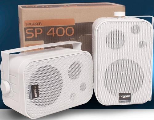 caixa som passiva ambiente sp 400 branca/preta nca ysm