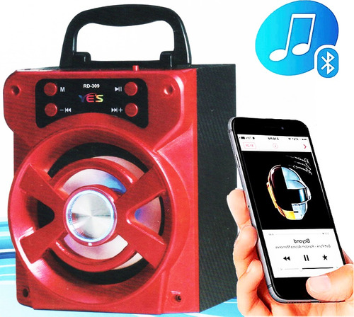 caixa som portatil amplificada bluetooth recarregavel rd-309