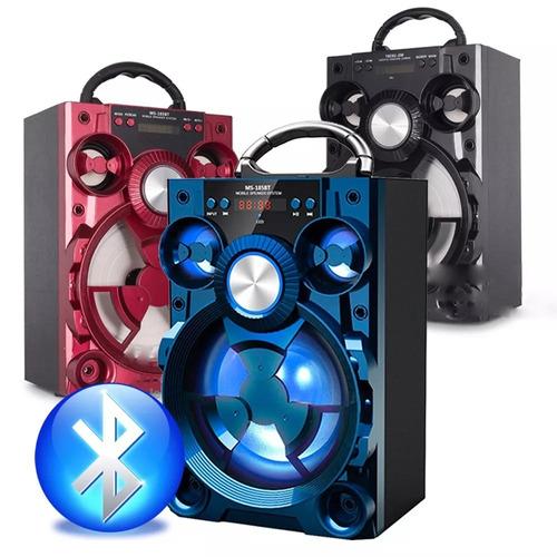 caixa som portátil amplificada mp3/fm/sd/usb c/ bluetooth