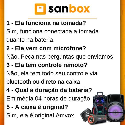 caixa som portátil  recarregavel 2900w multiuso amvox