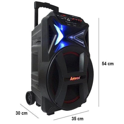 caixa som portátil  recarregavel 290w multiuso amvox