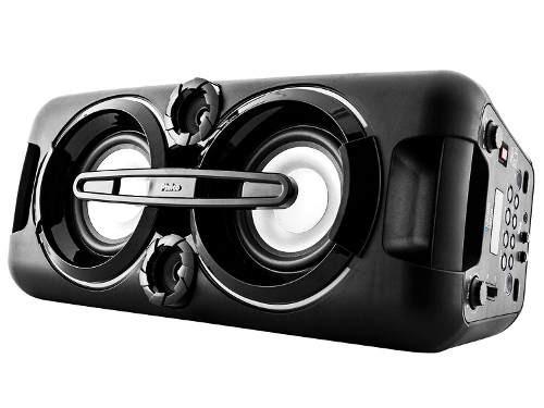 caixa som potente recarregavel bt mp3 usb cartao sd philco