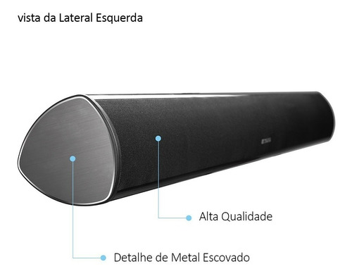 caixa som sound bar para smart tv com bluetooth 80w