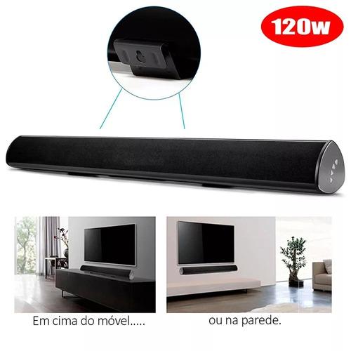 caixa som soundbar bluetooth mts-2018 tomate tv celular 120w