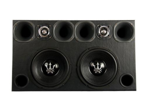 caixa som trio  2 magnum 12 800 +4d+2tw + amplificador 4000w
