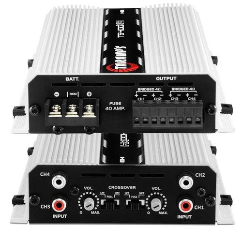 caixa som trio 950wrms c/ subwoofer 12  + modulo taramps