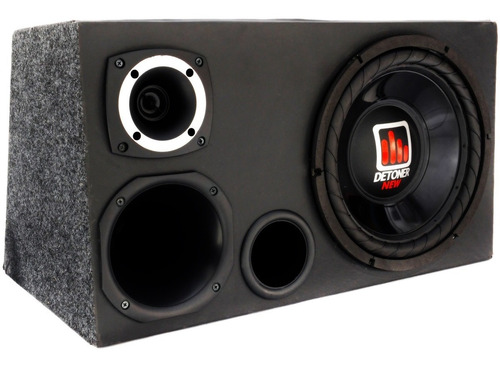 caixa som trio dutada  qualidade sub 12 + corneta + tweeter