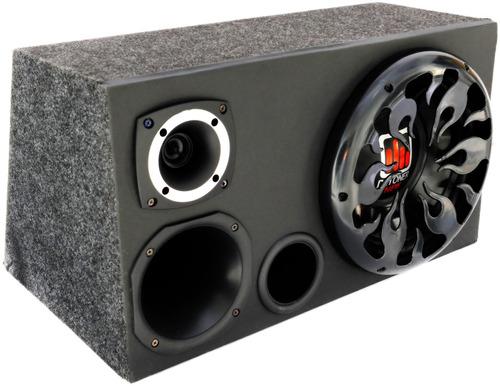 caixa  son automotivo trio  completa + amplificador stetsom