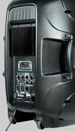 caixa staner ps1501 ativa bluetooth/fm + tripe ps 1501