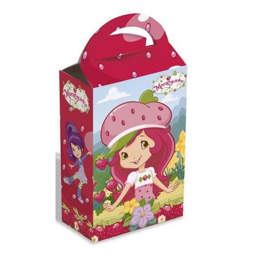 caixa surpresa de aniversário festa moranguinho 8 unidades