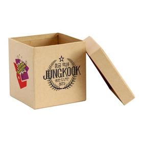 Caixa Surpresa Jungkook Jung Bts Kpop 5 Itens Caixa Madeira
