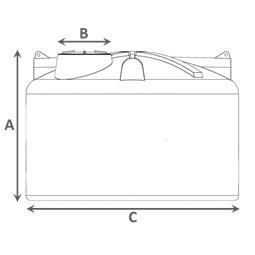 caixa tanque dagua 310 lt c/rosca fortlev