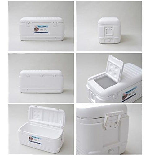 caixa térmica 142 litros quick & cool igloo até 248 latas