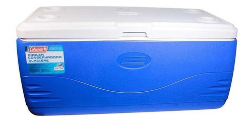 caixa termica 150(qt) 142 lts - azul - coleman