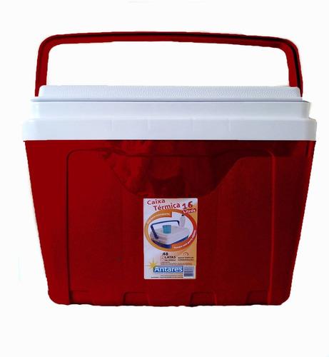 caixa térmica 16 litros capacidade para 22 latas de 350 ml