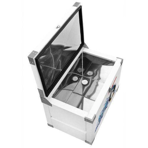 caixa  térmica 250 litros - chapa int. galvanizada