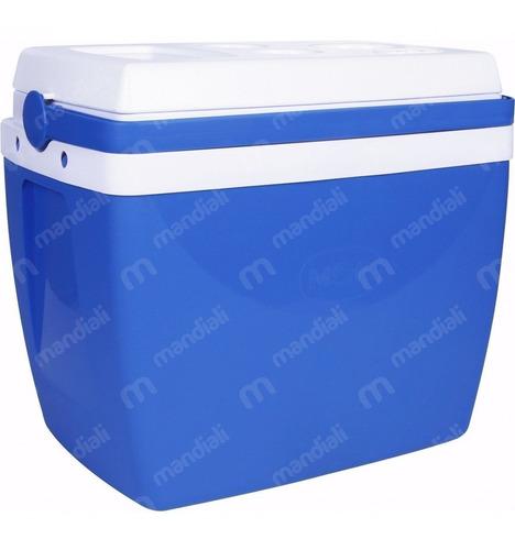 caixa térmica 26 litros azul com alça