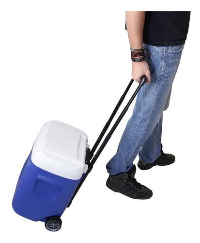 caixa térmica 26 litros island breeze roller 28 qt - igloo
