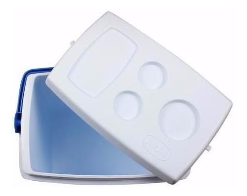 caixa térmica 34 litros azul / vermelha invicta