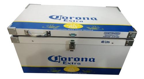 caixa termica 40 litros 60 latas+gelo personalizada